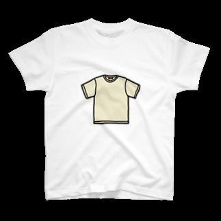 ショルダー肩美の無地Tシャツ T-shirts