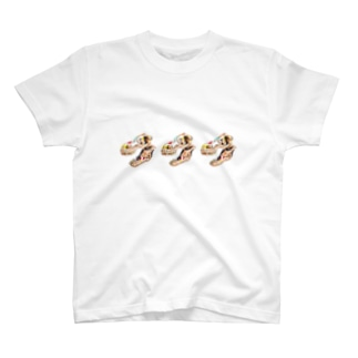 ティラノサウルス頭部×3 T-shirts