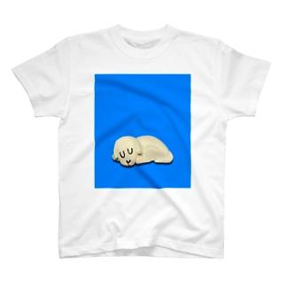 おやすみぃぬ あおいろ T-shirts