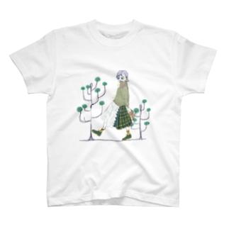 うつむき彼女 T-shirts