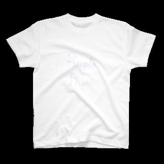 ショルダー肩美のパープル陰毛 T-shirts