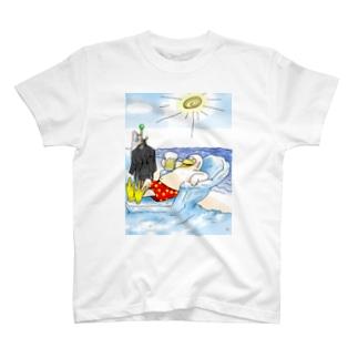 真夏のペンギン休憩中 T-shirts