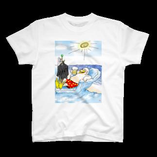 「みな☆の」の真夏のペンギン休憩中 T-shirts