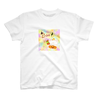 《ハロウィン》06*かぼちゃパンツのしろくま*パステル背景ver. T-shirts