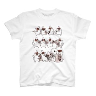 マーチングブラスねこさん T-shirts