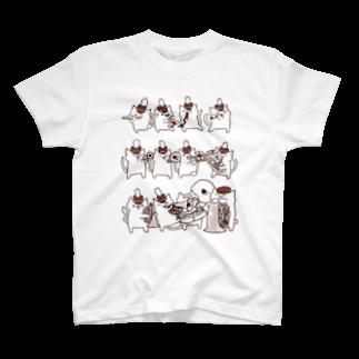 るるてあのマーチングブラスねこさん T-shirts