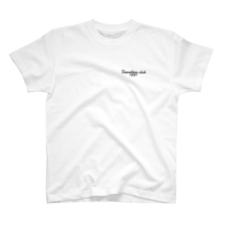 Traveller's club logo black T-shirts