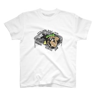 ねこねこどこ?ここ T-shirts