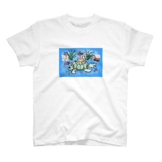 Ocean_Turtle_color01 T-shirts
