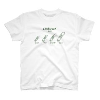 ちくわサイズ・両面 T-shirts