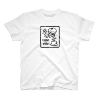 【SMOKE&COFFEE】ホワイト T-Shirt