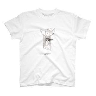 月の少女 T-shirts
