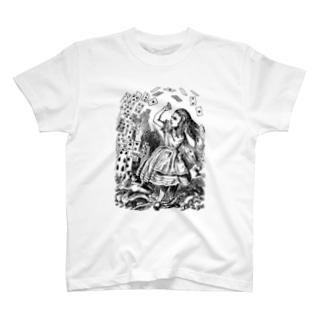 不思議の国のアリス 襲い来るトランプ T-shirts