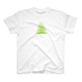 連なる輪 カラーその2 T-shirts