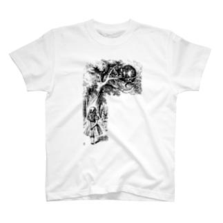 チェシャ猫とアリス T-shirts