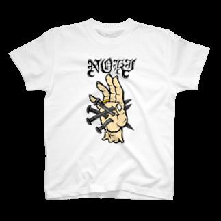 t.n.416の手に釘 色付き T-shirts