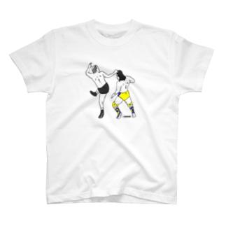 一本足頭突き T-shirts