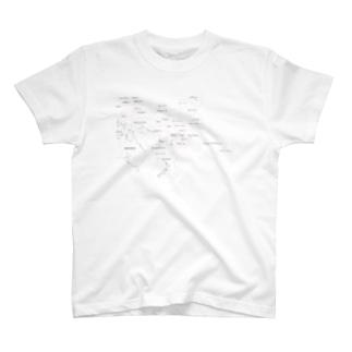 ポリネシアmapTシャツ T-shirts