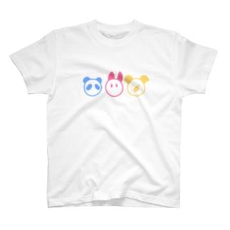 パンダうさぎコアラ T-shirts