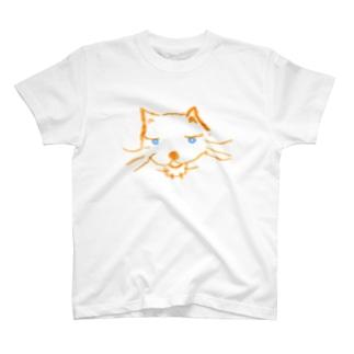 オレンジ色の猫 ねこっと T-shirts