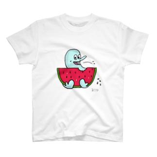 ホットマジックさんとスイカ T-shirts