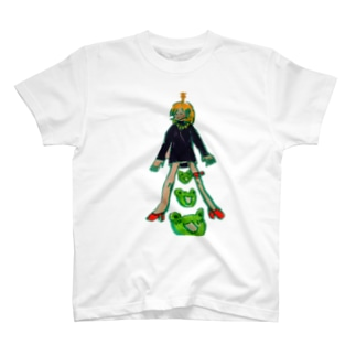 さすらいショップのかえるがビックリしている T-shirts