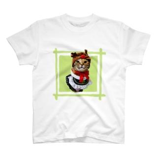 猫プリンちゃんクリスマスver T-shirts