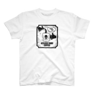 【THANKS COFFEE】ホワイト T-Shirt