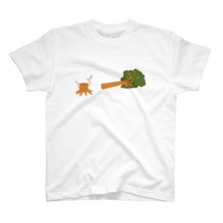 きりかぶくん(倒木と近くに描画) T-shirts