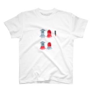 イカとタコの足を入れ替えてみる T-shirts