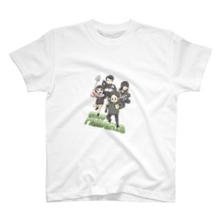 アムモ98ホラーチャンネルショップの心霊~パンデミック~イラスト カラーVer T-shirts