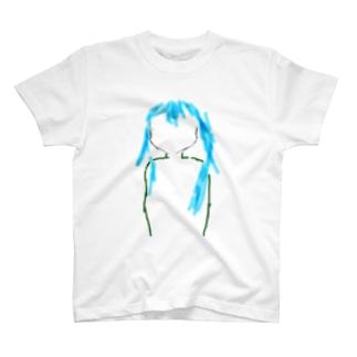 青毛シルエット T-shirts