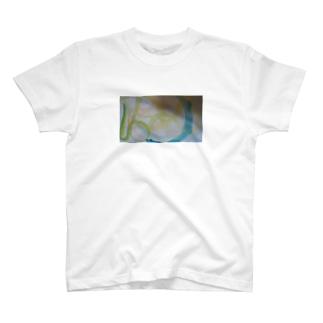 美しい星と海のオーロラ T-shirts