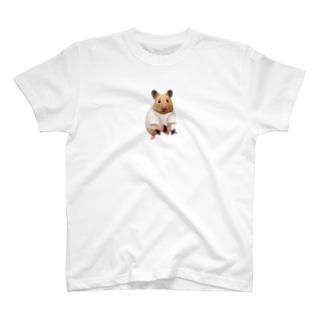 筋トレをするキンクマハムスター (ダンベル) T-shirts