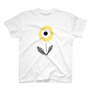 YELLOW FLOWER T-shirts