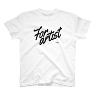For artist black T-Shirt