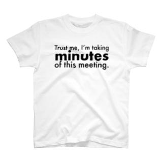 議事録当番 T-shirts