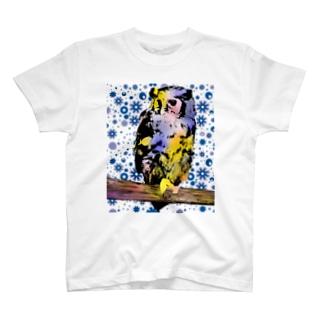 みみずくと花 T-shirts