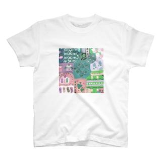 かわいいパッチワーク T-shirts
