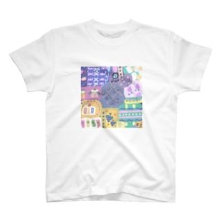 かわいいパッチワーク ツー T-shirts