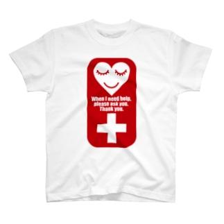介助を必要としています T-shirts