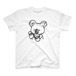 ラテアート中のコアラせんぱい T-Shirt