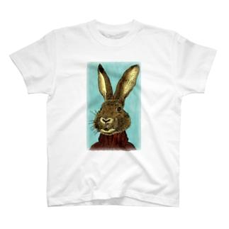 セーターうさぎ T-shirts