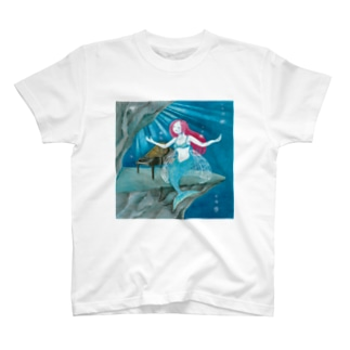 「海底の舞台」フロントプリントTシャツ T-shirts