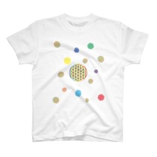The_Light_Bridgeの虹チャクラ裏版 T-shirts