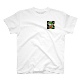 キャピオカメロンステッカー T-shirts