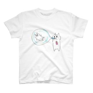 ムームー島のシャボン玉遊び T-shirts