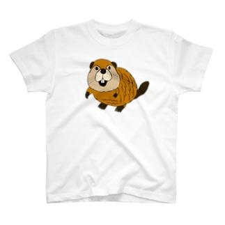 かわいいビーバーTシャツ T-Shirt