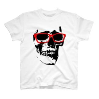 ドクロ×メガネ T-shirts
