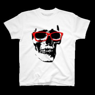 YamasakiMasakiのドクロ×メガネ T-shirts